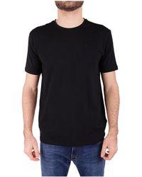 Trussardi - Men's Black Cotton T-shirt - Lyst