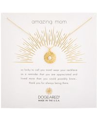 Dogeared - Mom 14k Plated Necklace - Lyst