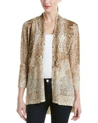 Magaschoni - Silk & Cashmere Blend Burnout Long Sleeve Cardigan - Lyst