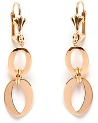 Peermont - Gold Double Circle Drop Earrings - Lyst
