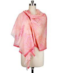 Saachi - Women's Pink Hues Scarf - Lyst