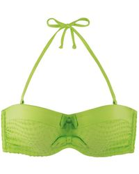 Marie Meili - Green Bandeau Swimsuit Top Nerida - Lyst