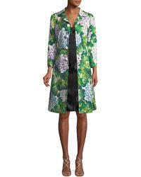 Dolce & Gabbana - Silk-blend Floral Coat - Lyst