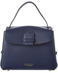 Burberry - Small Leather & House Check Canvastote - Lyst
