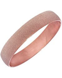 Jewelry Affairs - Rose Tone Stainless Steel With Rose Glitter Finish Bracelet Bangle - Lyst