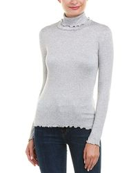 Ella Moss - Folded Turtleneck Top - Lyst