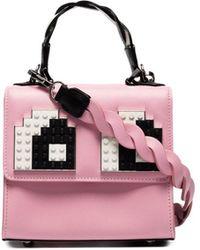 Les Petits Joueurs - Women's Pink Leather Handbag - Lyst