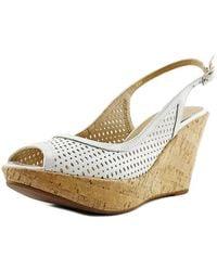 Vaneli - Emine Women Open Toe Synthetic White Wedge Heel - Lyst