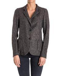 Seventy - Women's Grey Acrylic Blazer - Lyst
