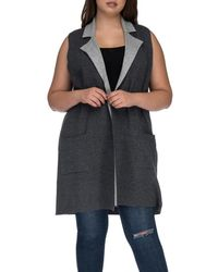 Bobeau - Plus Size Jasper Double Faced Vest - Lyst