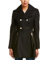 Laundry by Shelli Segal - Flared Wool-Blend Coat - Lyst