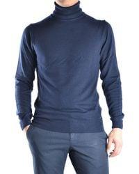 Guess - Men's Blue Wool Jumper - Lyst