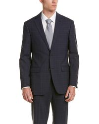 Ike Behar - Wool Smart Suit With Flat Front Pant - Lyst