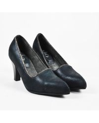 "Calleen Cordero - Nib Black Leather Pointed Toe ""mika"" Pumps Sz 6 - Lyst"