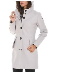 Rrd - Women's Grey Wool Coat - Lyst