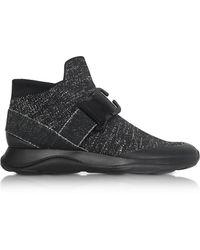 Christopher Kane - Women's Black Fabric Hi Top Sneakers - Lyst