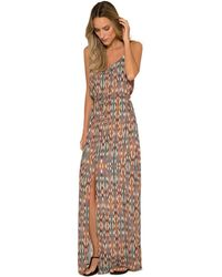 Lenny Niemeyer | Long Printed Cover Up Dress | Lyst