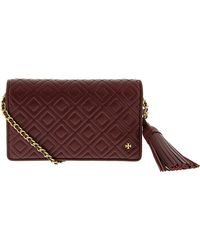 Tory Burch - Women's Fleming Flat Wallet Crossbody Leather Cross Body Bag - Lyst