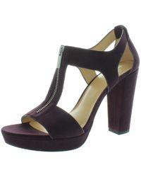 MICHAEL Michael Kors - Womens Berkley Suede Heels Dress Sandals - Lyst