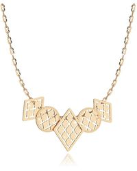 Rebecca - Women's Gold Steel Necklace - Lyst