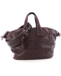a5e2606c6c6f Lyst - Givenchy Nightingale Medium Stamped Crocodile Satchel Bag in ...