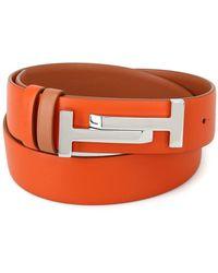 Tod's - Women's Orange Leather Belt - Lyst