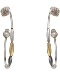 Gurhan - Willow Puff Thin Tri-color Hoops - Lyst