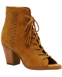 Frye - Dani Whipstitch Lace Suede Bootie - Lyst