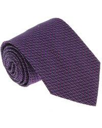 Missoni - U4805 Purple/navy Pencil 100% Silk Tie - Lyst