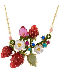 Les Nereides - Royal Gardens Strawberries White Flowers And Leafy Branch Necklace - Lyst