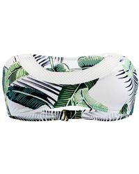Rip Curl - Green Bandeau Swimsuit Palm Island - Lyst