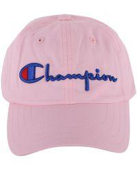 Champion - Women's Pink Cotton Hat - Lyst