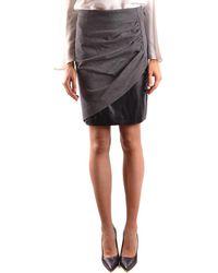 Pinko - Women's Grey Viscose Skirt - Lyst