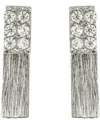 Bungalow 20 | The Half & Half Bar Stud Earrings | Lyst
