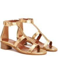 Aquatalia - Risa Waterproof Leather Sandal - Lyst