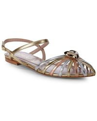 Aperlai - Heart Leather Ankle-strap Sandal - Lyst
