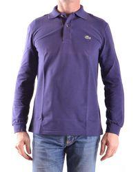 Lacoste - Men's Mcbi341018o Purple Cotton Polo Shirt - Lyst