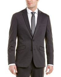 Kenneth Cole Reaction - 2pc Slim Fit Suit With Flat Pant - Lyst