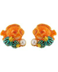 Les Nereides - Exoplanet Little Fish Earrings - Lyst