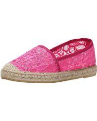 Vidorreta - Womens V Lace Closed Toe Slide Flats - Lyst