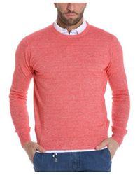 Cruciani - Men's Red Linen Sweater - Lyst