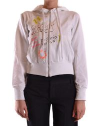 Iceberg - Women's White Cotton Sweatshirt - Lyst