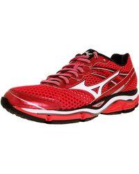 Mizuno - Women's Wave Enigma 5 W Pink/white/silver Ankle-high Mesh Running Shoe - 6m - Lyst
