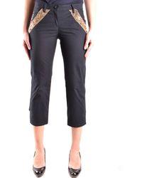 Moschino - Women's Black Cotton Pants - Lyst