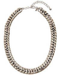 Kenneth Jay Lane - Rhodium Plated Necklace - Lyst