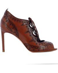 Santoni - Women's Brown Leather Heels - Lyst