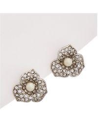 Carolee - Catch The Bouquet Clip-on Earrings - Lyst