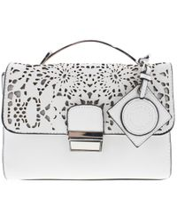 Catherine Malandrino - Womens Lola Faux Leather Laser Cut Shoulder Handbag  - Lyst e6bda940d2de0