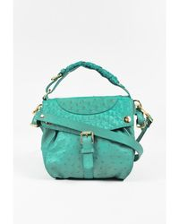 "Thakoon - 1 Seafoam Ostrich Embossed ""the Rampling"" Crossbody Bag - Lyst"