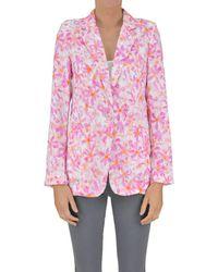 Patrizia Pepe - Textured Cloth Blazer - Lyst